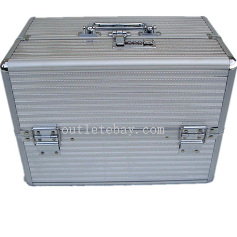 Aluminum Beauty Lockable Case With Three level trays