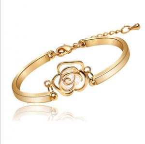 Gold Plated Rose Bracelet