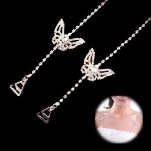 Crystal Bra Strap - Butterfly2