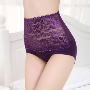 High Waist Bamboo Fabric Underwear - Purple
