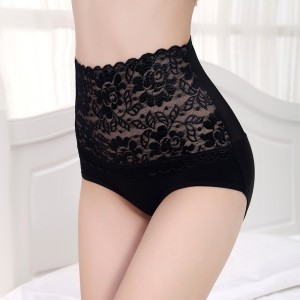 High Waist Bamboo Fabric Underwear - Black